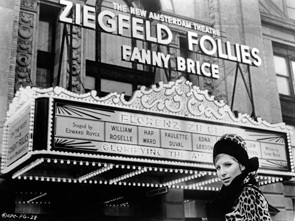 Barbra Streisand On Set of the Film Funny Girl, 1968