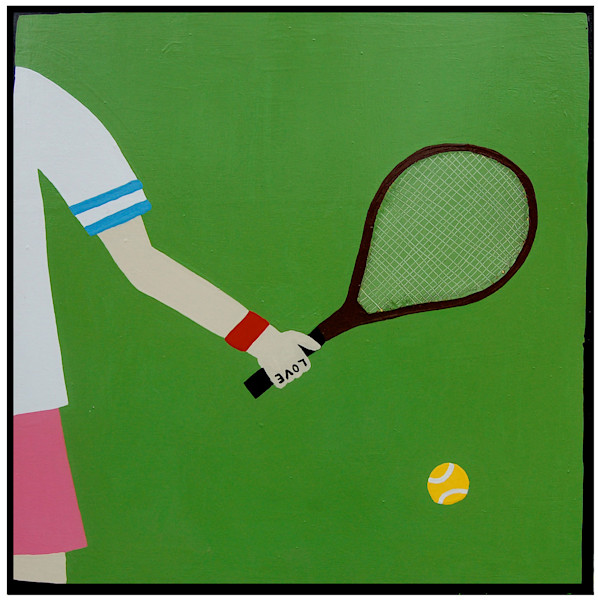 Tennis At Ten, Cocktails At Noon Fine Art Print