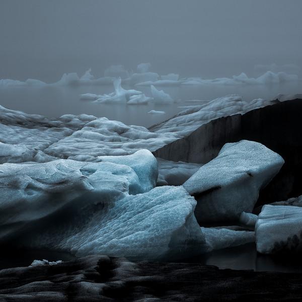 Iceland Jokulsarlon floating ice - Fine Art Print
