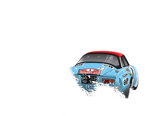 Alpine Renault, by Ricardo Santos, Limited Edition Print