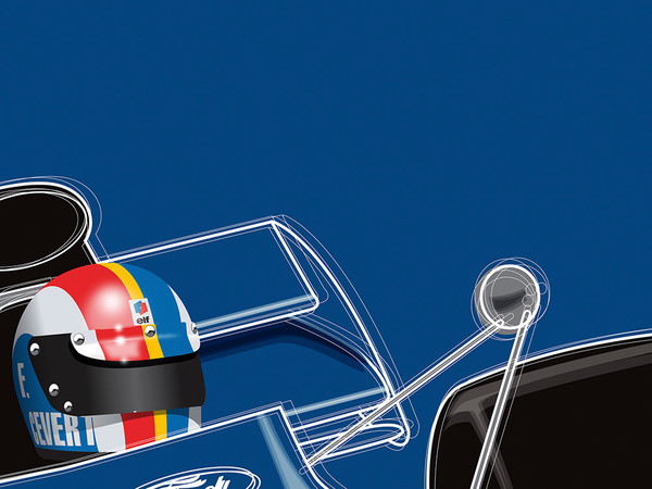 Francois Cevert, Tyrrell, by Ricardo Santos, Limited Edition Print