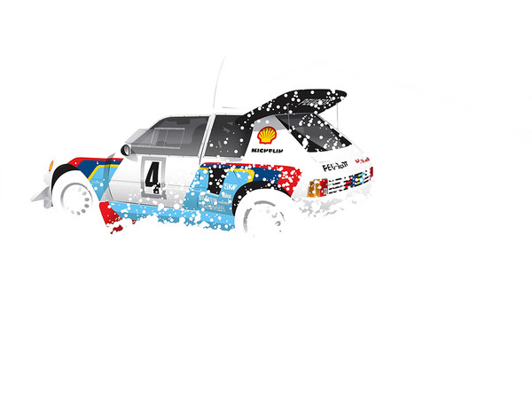 Peugeot 205, by Ricardo Santos, Limited Edition Print