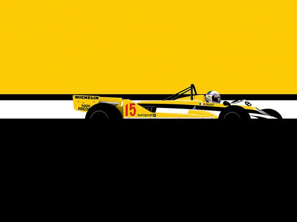 Alain Prost Renault, by Ricardo Santos, Limited Edition Print
