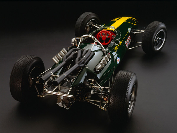 Lotus 34 Ford, 1964, Rear 3/4 View, by Rick Graves, Limited Edition Print