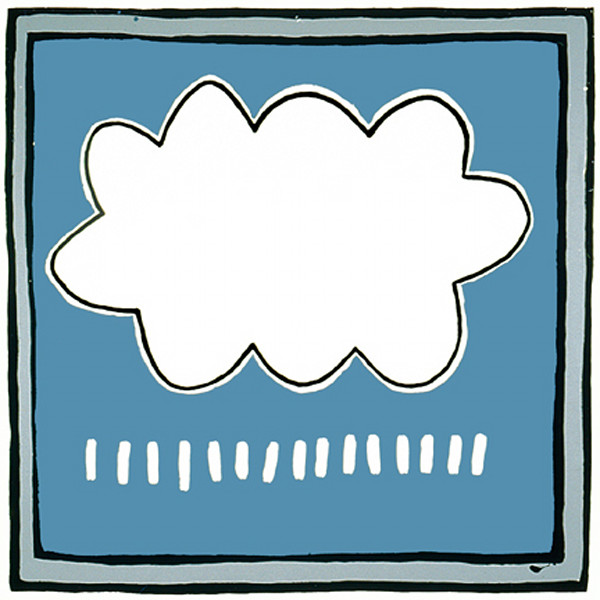 Happy little rain cloud oil painting by Hudson Valley Artist Ryan Cronin.