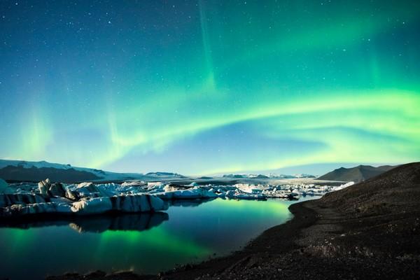 Frozen Auroras print by Brad Scott