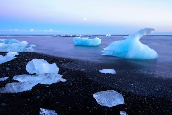 Frozen in Time Iceland art Print by Brad Scott