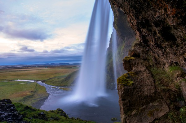 Under an Icelandic Waterfall print by Brad Scott