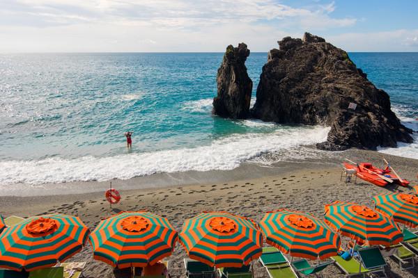 Red Bikini Monterosso, Cinque Terre, Italy Print