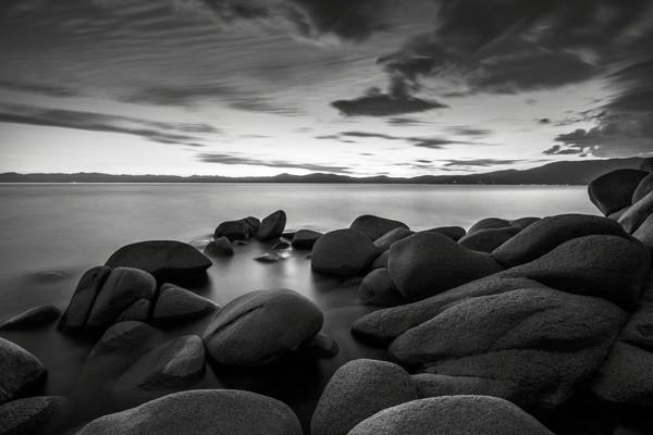 East Shore Serenity Lake Tahoe Print by Brad Scott