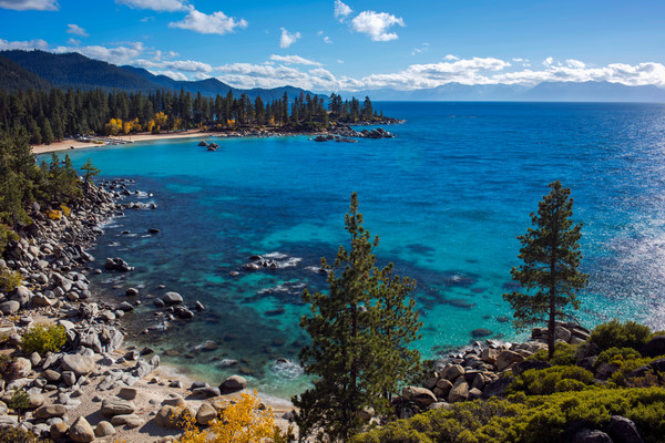 Tahoe Aquas, Sand Harbor lake tahoe print by brad Scott