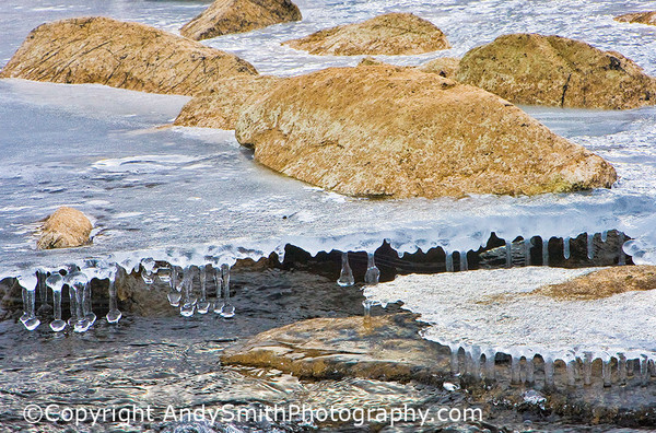fine art photograph of Icicles and rocks