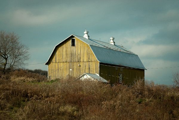 Aged Barn Along the NY State Country Side Limited Edition Signed Fine Art Landscape Photograph by Melissa Fague