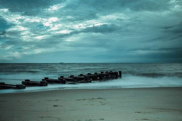 Blue Morning at Rehoboth Limited Edition Signed Fine Art Landscape Photograph by Melissa Fague