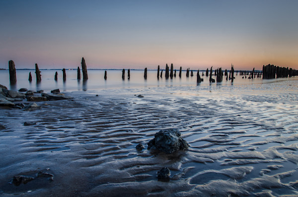 Low Tide At Battery Limited Edition Signed Fine Art Landscape Photograph by Melissa Fague