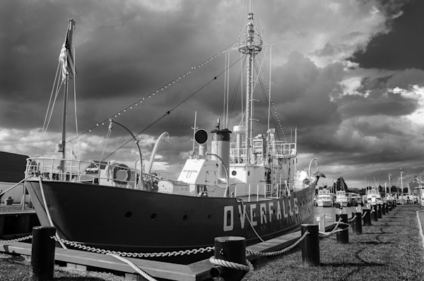 Overfalls Lightship Limited Edition Signed Fine Art Landscape Photograph by Melissa Fague