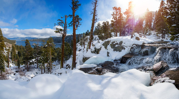 Emerald Bay winter wonderland Lake Tahoe Print