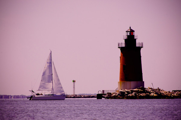 Sailing in the Bay Limited Edition Signed Fine Art Landscape Photograph by Melissa Fague
