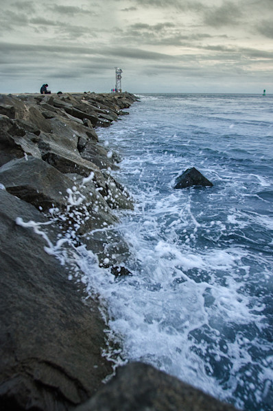 Splashing on the Jetty Limited Edition Signed Fine Art Landscape Photograph by Melissa Fague
