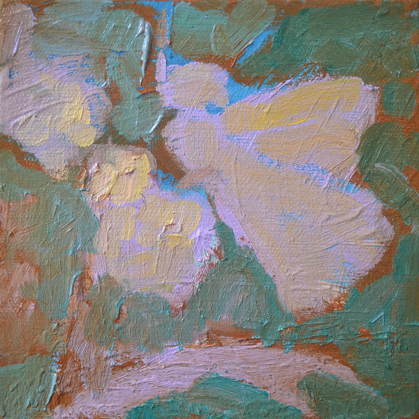 CreativSOUP DIY #nastywoman Creative Painting Art Lesson for Intuitive Colors ~ Butterfly Worries Not Lavender Evergreen