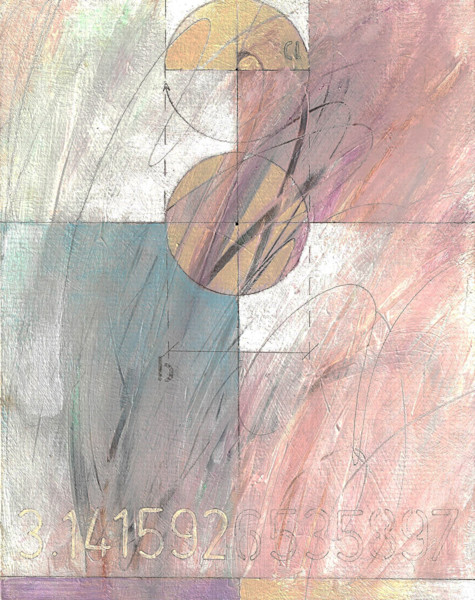 Once again, Pi is the featured number of the day in this stunning abstract image by artist James Thatcher. Soft pastel colors define the four quadrants, while circles and the number itself add definition and focus to the visual.