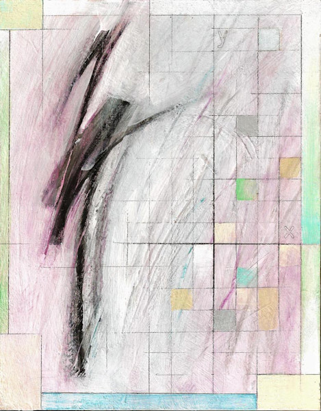 James Thatcher creates mathematically-inspired abstract art, using soft colors, lines and grids. His paintings are available as art prints.