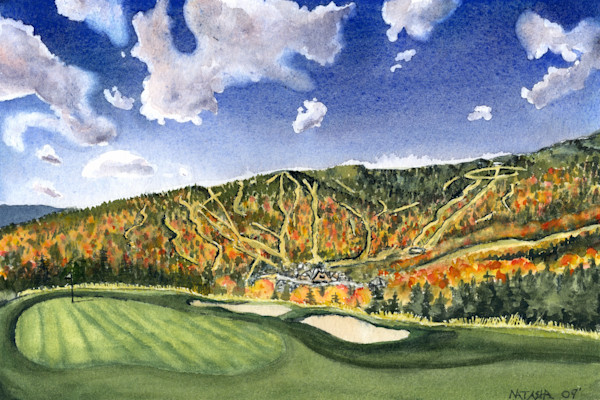 Stowe Vermont Golf Art for Sale