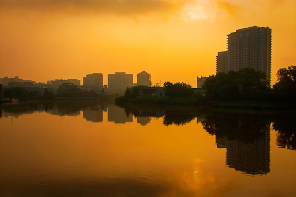 Wilmington at Sunrise Limited Edition Signed Fine Art Landscape Photograph by Melissa Fague