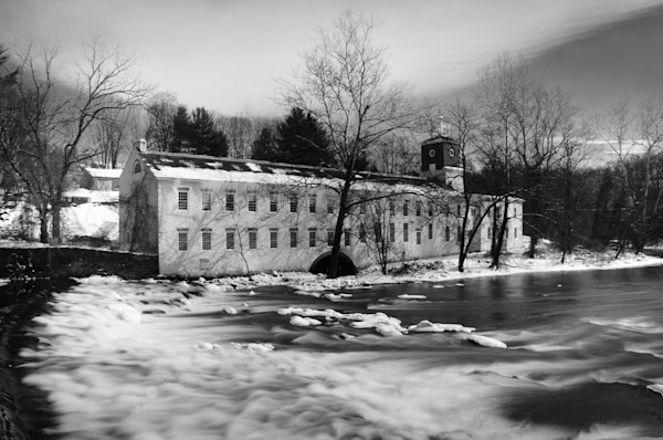 Winter at Powder Mill Limited Edition Signed Fine Art Landscape Photograph by Melissa Fague