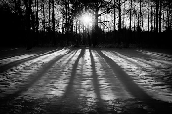 Winter Shadows Limited Edition Signed Fine Art Landscape Photograph by Melissa Fague
