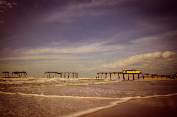 Aged View of the Frisco Pier Limited Edition Signed Fine Art Landscape Photograph by Melissa Fague