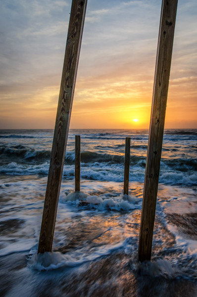 Sunrise Between the Pillars Limited Edition Signed Fine Art Landscape Photograph by Melissa Fague