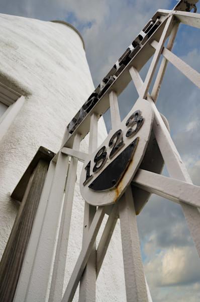 Ocracoke Island Lighthouse against Sky Limited Edition Signed Fine Art Photograph by Melissa Fague