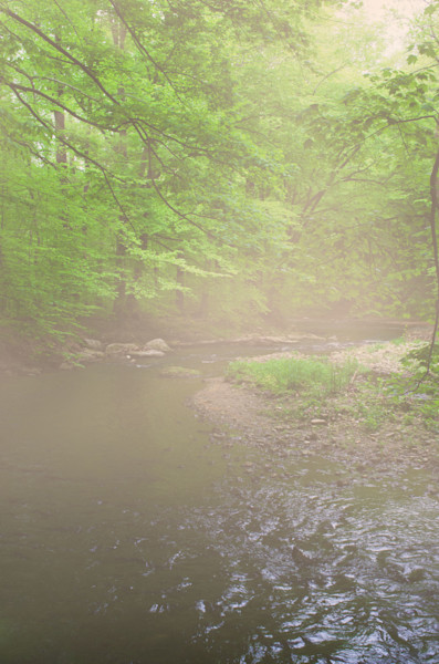 Early Morning Fog on the River Limited Edition Signed Fine Art Landscape Photograph by Melissa Fague