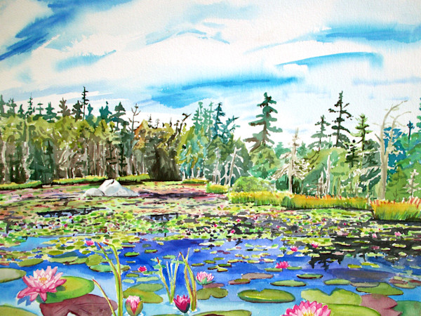 Stonington Maine Ames Pond Art for Sale