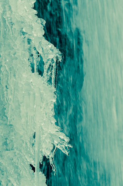 Ice and Falls Limited Edition Signed Fine Art Nature Photograph by Melissa Fague