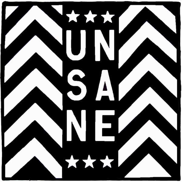 Unsane Parlor Oil Painting Black and White Geometric