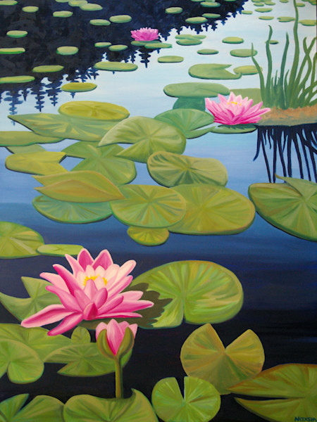 Tranquility Water Lily Art for Sale
