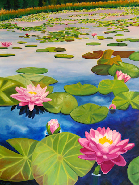 Transcendence Water Lily Art for Sale