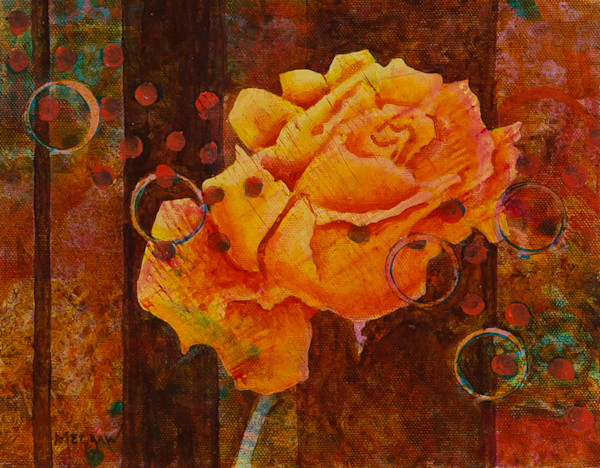 Rose III painting and prints by Pat Megraw