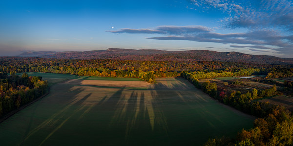 Fall Morning Mohonk - Aerial From Huguenot Street - New Paltz - New York