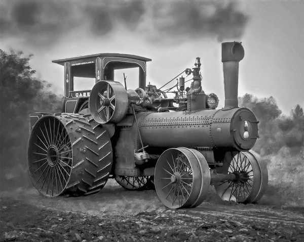 Monochrome Vintage Farming Art Print on metal, canvas or paper, fleblanc