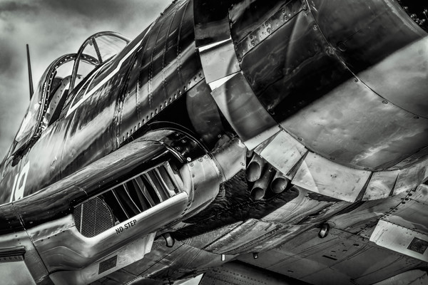 Monochrome More WW2 Warbirds Art Print on metal, canvas or paper, fleblanc