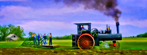 Farming Panos | Panoramics Art Print on metal, canvas or paper, fleblanc