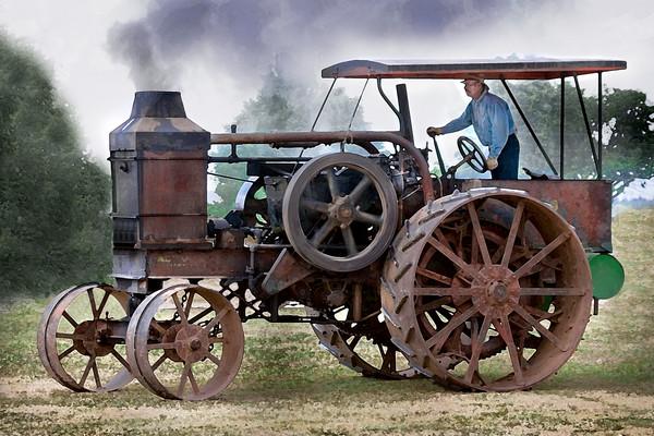 Farm Tractor Antique Rumely Oil Pull|Wall Decor fleblanc
