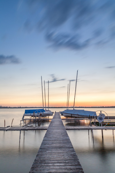 Boats at Sunset, Madison, Wisconsin, USA