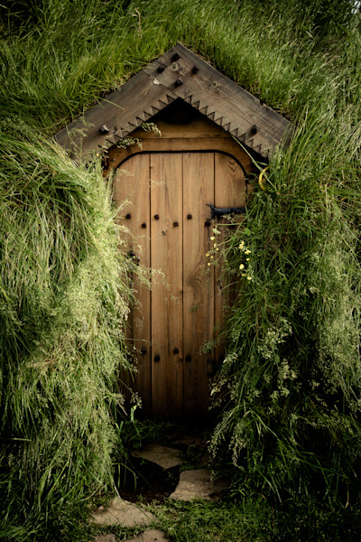 Turf House Door, Skalholt, Iceland