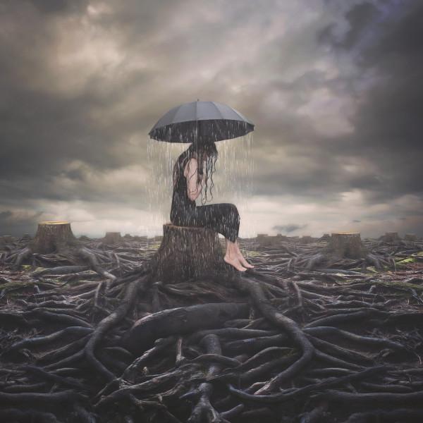 """Negativity"", Surreal Fine Art Photograph by Rebecca Benezue"