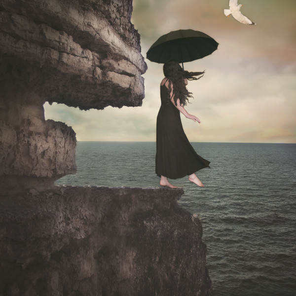 """Maybe I'll Fly"", Surreal Fine Art Print by Rebecca Benezue."