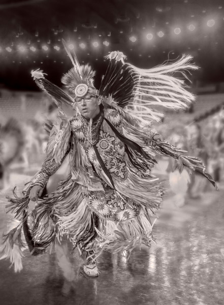 Native American Regalia Drum Sepia West|Wall Decor fleblanc